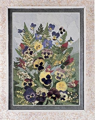 Панно из сухих цветов и листьев своими руками фото